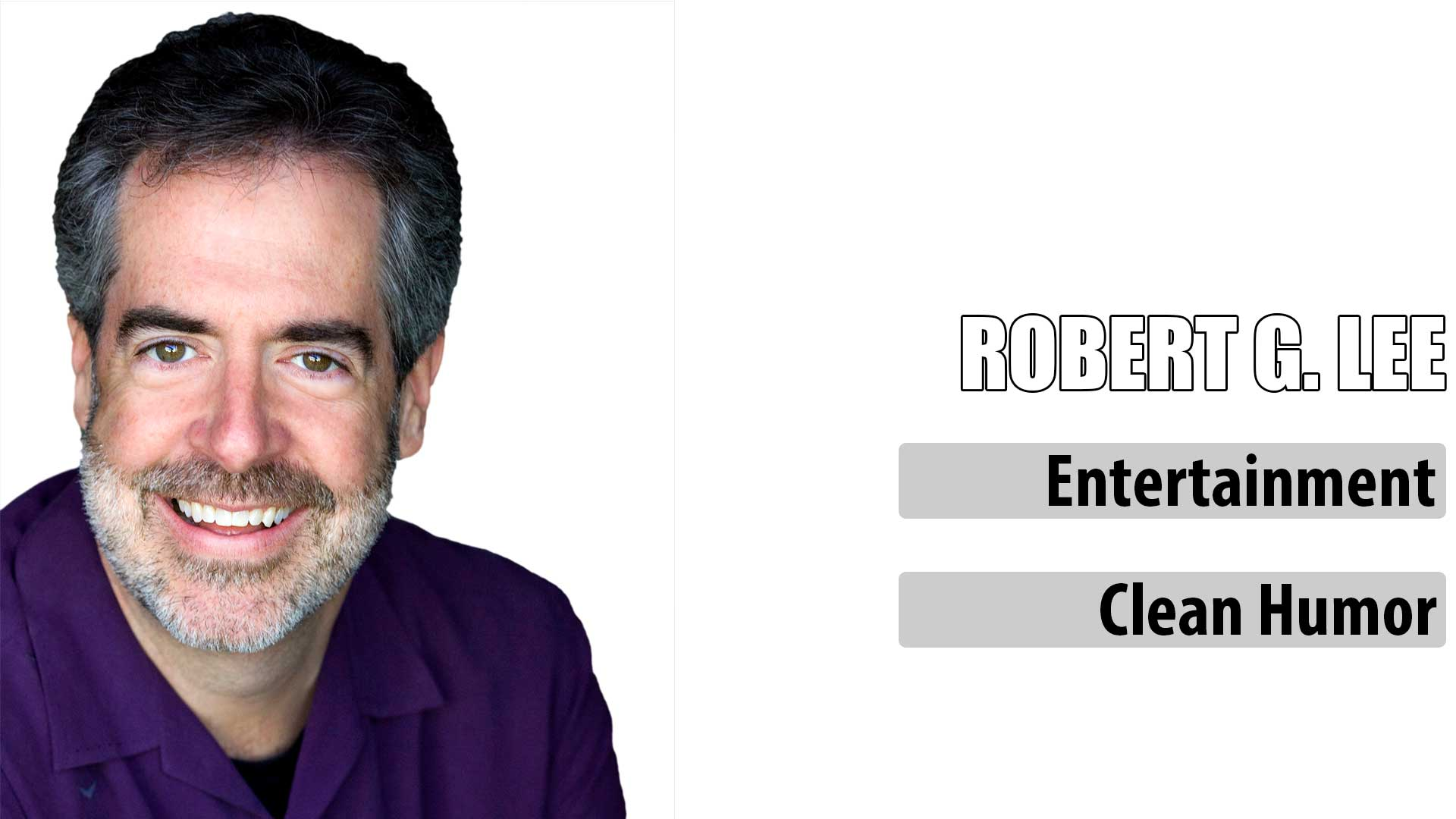 Comedian Robert G. Lee